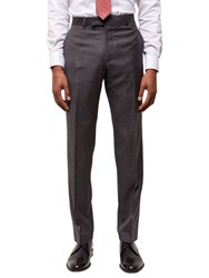 Jaeger Super 120S Wool Regular Fit Suit Trousers Grey