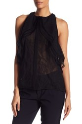 Jason Wu Collage Lace Racerback Blouse Black