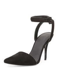 Alexander Wang Lovisa Suede Pointed Toe Pump Black