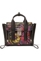 3.1 Phillip Lim The Pashli Mini Printed Leather Trapeze Bag Black