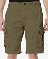 Buffalo David Bitton Men's Havem Cargo Shorts Fatigue Green