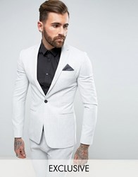 Religion Super Skinny Suit Jacket In Pale Grey Grey