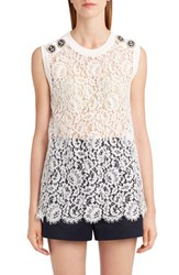 Dolce And Gabbana Women's Sleeveless Lace Top
