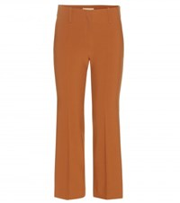 Michael Kors Wool Blend Trousers Brown