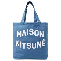 Maison Kitsune Maison Kitsuna Tote Bag Blue And White