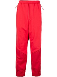 Juun.J Panelled Track Trousers Red