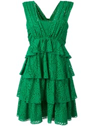 N 21 No21 Layered Lace Dress Green