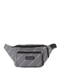 Balenciaga Explorer Power Of Dreams Canvas Belt Bag Blue Gray
