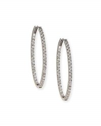 Memoire 18K White Gold And Diamond Infinity Hoop Earrings 2.75 Tdcw