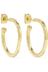 Jennifer Meyer Hammered 18 Karat Gold Hoop Earrings