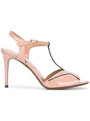 L'autre Chose T Bar Sandals Pink Purple