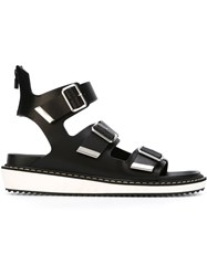 Givenchy Flat Three Buckle Sandals Black