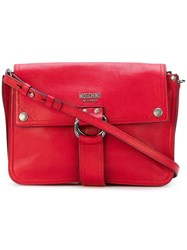 Moschino D Ring Strap Satchel Red