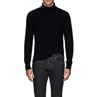 Eidos Cashmere Loose Fit Turtleneck Sweater Navy