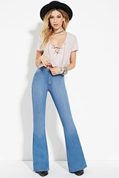 Forever 21 High Waisted Flare Jeans Denim