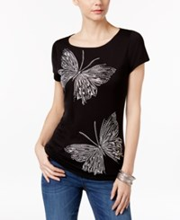 Inc International Concepts Embellished Butterfly T Shirt Only At Macy's
