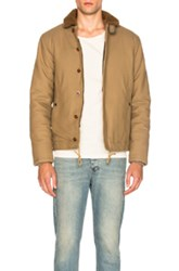 Kolor Beacon Sheep Shearling Collar Jacket In Neutrals