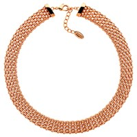 Finesse Chunky Mesh Collar Necklace Rose Gold