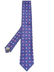 Canali Printed Tie Blue