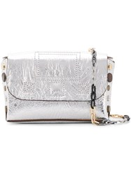 Zadig And Voltaire Readymade Nano Clutch Silver