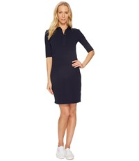 Lacoste 1 2 Sleeve Stretch Pique Polo Dress Navy Blue
