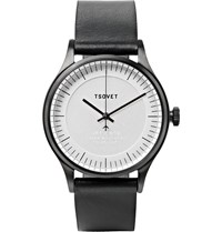 Tsovet Jpt C036 36Mm Stainless Steel And Leather Watch Metallic