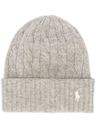Polo Ralph Lauren Cable Knit Beanie Grey
