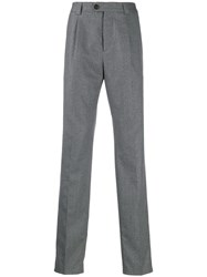 Brunello Cucinelli Pinstriped Trousers Grey