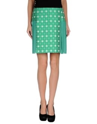 Max And Co. Knee Length Skirts Green