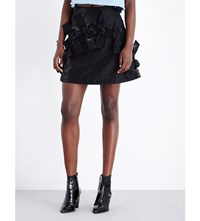 Fyodor Golan Bow Detailed Shimmering Skirt Duchess Black
