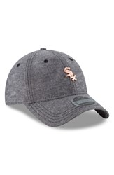 separation shoes 3e137 4a1b1 New Era Cap Mlb Badged Black Label Linen And Cotton Ball Cap Black Chicago  White Sox