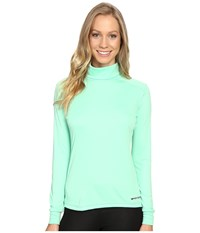 Hot Chillys Peach Roll T Neck Spring Green Women's Long Sleeve Pullover