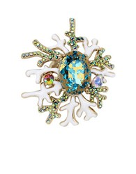 Betsey Johnson Glitter Reef Coral Ring Multicolor