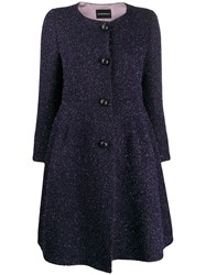 Emporio Armani Peplum Coat Purple