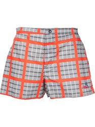 Vivienne Westwood Gold Label Checked Board Shorts Grey