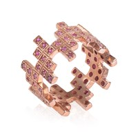 Maiko Nagayama Zig Zag Puzzle Ruby Ring Red Rose Gold Silver