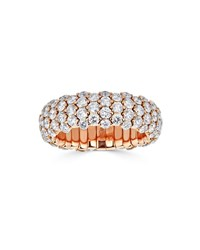 Zydo 18K Rose Gold And Diamond Stretch Ring 3.82Tcw