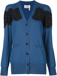Lanvin Lace Pattern Cardigan Blue