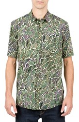 Volcom Men's Tetsunori Cotton Blend Woven Shirt