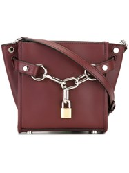 Alexander Wang Mini 'Attica' Chain Satchel Red