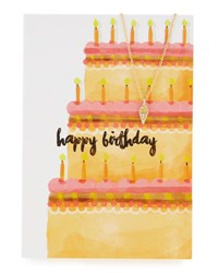 Lydell Nyc Ice Cream Cone Necklace With Birthday Card