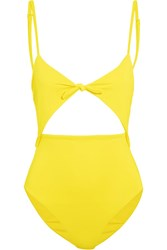 Mara Hoffman Cutout Swimsuit Yellow