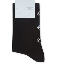 Hansel From Basel Curiouso Cotton Socks Black