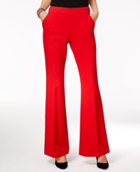 Inc International Concepts Flare Leg Pants Only At Macy's Real Red