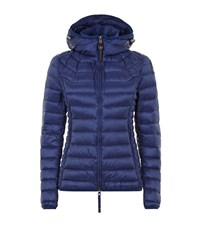 Parajumpers Juliet Mid Length Hooded Down Jacket Female Blue