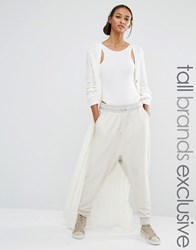 Daisy Street Tall Maxi Cable Knit Cardi Cream