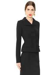 Dolce And Gabbana Fitted Stretch Wool Jacket