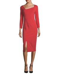 Lafayette 148 New York Shia Punto Milano Sheath Dress Salsa