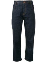 Ymc High Rise Cropped Jeans Blue