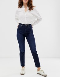 Wrangler Indigood Iconic High Rise Straight Leg Jean Blue